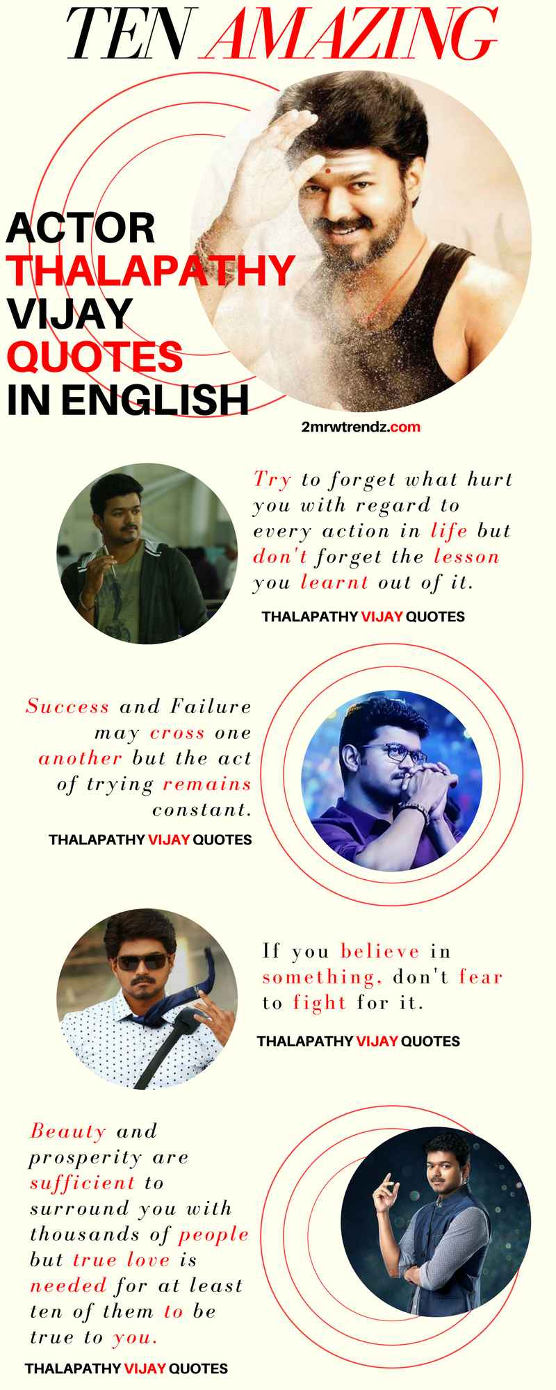 Actor Thalapathy Vijay Infographics